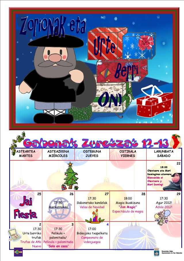 Haurtxokoa-GABONAK ZURETZAT