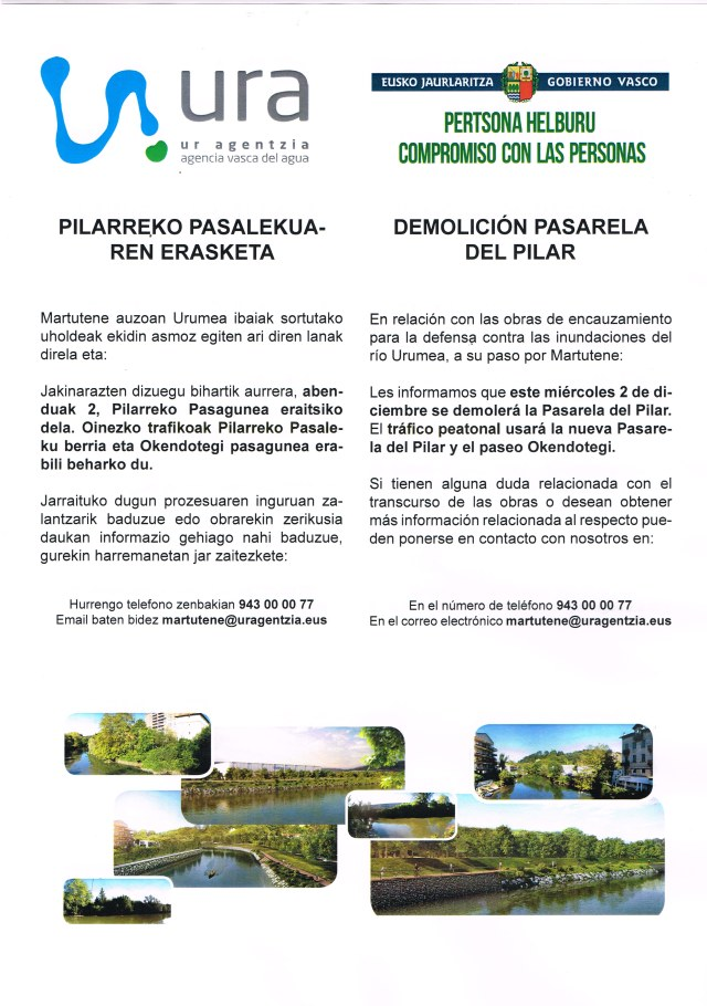Demolición pasarela del Pilar