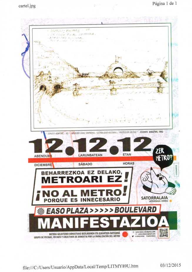 Metroaren manifestazioa