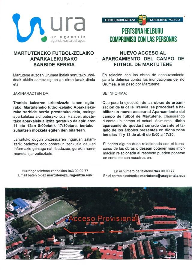 ACCESO CAMPO DE FÚCTBOL